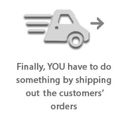 Now you have to ship the orders to your customers