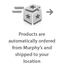 Products are automatically shipped from Murphy's Magic to your location