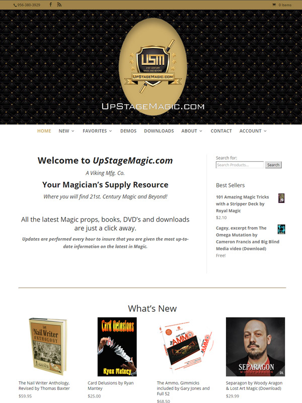 UpStage Magic website screenshot designed by Quality Magic Sites.